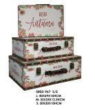 Коробка ювелирных изделий коробки хранения деревянной коробки случая домашнего украшения деревянная