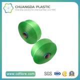 高い粘着性のPPのマルチフィラメントの緑FDYヤーン1500d