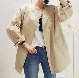 2018 Nouvelle conception Lady Fashion manteau sans collet