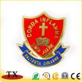 Emblema da forma do protetor do Pin da etiqueta do metal da promoção para o presente da lembrança