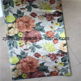 El poliester 100% florece la tela de la impresión para la cortina