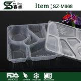 Contenitori di alimento di plastica a gettare con la copertura stagna