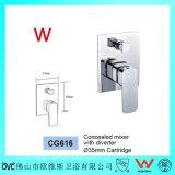 Mezclador de cobre amarillo de la ducha de la filigrana de las mercancías sanitarias del precio competitivo (CG616)