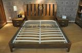 固体木のベッドの現代ベッド(M-X2777)