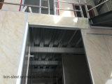PrefabHuis van het Frame van het Staal van twee Vloeren het Sterke met Glaswol