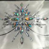 2018년 Bling 반짝임 눈 피부 스티커 접착성 아크릴 주옥 마스크 Sticjers 수정같은 다이아몬드 가슴 스티커 (E05)