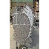 Headstone гранита Polished Carvings перекрестный для надгробной плиты