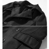I nuovi uomini del Windbreaker/della cinghia di stile dimagriscono il doppio cappotto di trincea di Breasted