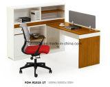 Package de solution complète en forme de L'Office bureau de poste de travail avec huche