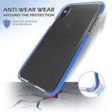 Аргументы за iPhone8 мобильного телефона голубого падения удара ясности мягкого прозрачного TPU двойного слоя защитные