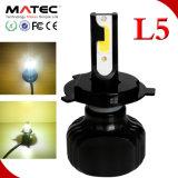 2PCS 60W 6000lm Hi/Lo 광속 차 LED Headlamp H4 H13 9005 9006 이중 색깔 L5 Fanless