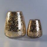 Supporto verniciato oro unico di vetro della candela della stagnola di disegno