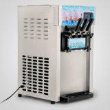LCD 디스플레이 혼합 3 취향 110V를 가진 상업적인 연약한 서브 아이스크림 기계 후로즌 요구르트 아이스크림 제조기