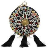 Sacs à main colorés de luxe de femmes de sacs d'embrayage de soirée de dames de mode neuve avec les glands Leb931