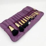 15pcs ensemble de la brosse de Maquillage professionnel avec poignée violette