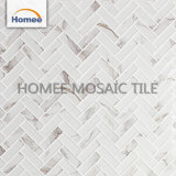 En busca de mármol blanco Espina de Pez Mosaico de vidrio