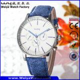 Reloj ocasional de la manera de la mujer del cuarzo de la correa de cuero (Wy-081C)