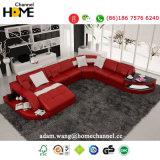 Домашняя мебель красного новый дизайн гостиной кожаный диван (HC1100)