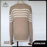 女性方法火炎信号の袖の縞のセーター