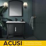 Vaidade moderna moderna americana do banheiro da madeira contínua da laca do estilo (ACS1-W101)