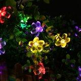 Luzes 2017 pstas solares impermeáveis da flor da corda do diodo emissor de luz do Natal para interno/ao ar livre, o pátio, o gramado, o jardim, o Xmas, e os festivais do feriado