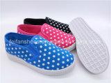Hotsaleの子供の学校は蹄鉄を打つ注入のスリップオンのズック靴(ZL1017-6)に