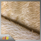 Длинняя ткань шерсти фальшивки плюша кучи