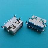 Montagem de PCB de ângulo direito do conector de 4 pinos USB
