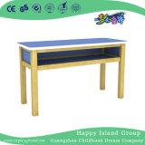 2를 위한 서랍을%s 가진 학교 나무로 되는 녹색 내화성이 있는 책상 (HG-4006)