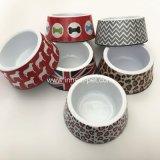 Commerce de gros de fournitures de produits pour animaux de compagnie de la mélamine Chat Chien bol avec Pretty-Printings