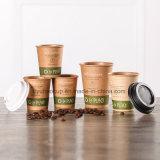 de milieu Koppen van het Document van Kraftpapier van de Kop van de Koffie Bruine