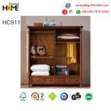 Guardarropa de madera del diseño de la antigüedad del estilo de Americian para los muebles del dormitorio (HC911)