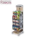 Kundenspezifische Supermarkt-Ausstellungsstand-Imbiss-Zahnstangen-kleiner hölzerner Schaukasten