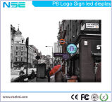 P8mm, das im Freien farbenreiches Zeichen-System-Zeichen des Speicher-LED bekanntmacht
