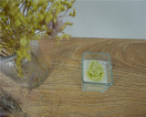 Velas de cristal perfumadas hermosas de la taza de la vela del aroma de la vela de la taza