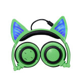 Form-neue Tendenz-glühende drahtloser Katze-Ohr-Kopfhörer faltbare Retractabl Bluetooth Kopfhörer