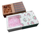 Reciclar y el cajón disponible del papel de Brown Kraft encajona los rectángulos de empaquetado del regalo del jabón