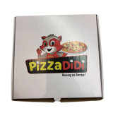 Белый 12-дюймовый гофрированной упаковки пиццы логотип