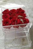 Casella acrilica di lusso moderna della Rosa con il cassetto