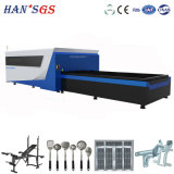 cortadora del laser de la fibra del acero inoxidable del acero de carbón del CNC 500W