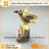 Statue di ceramica del pappagallo