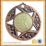 Medallas de aluminio de la divisa de la tarjeta del esquí de encargo