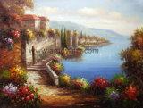 ホーム装飾のためのハンドメイドの内陸の景色の油絵