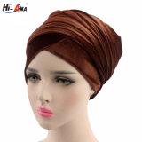 Hi-Ana Fabic turbante de terciopelo, el invierno Muslim Hat