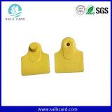 Tag de orelha impresso do gado do material plástico de 78*56mm