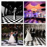 Bewegliche hölzerne Tanzboden-Hinterhof-Hochzeits-Schwarzweiss-Tanzböden