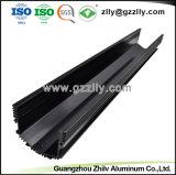 Aangepaste Zwarte Geanodiseerde LEIDENE van het Aluminium Uitdrijving Heatsink met ISO9001