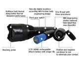 Алюминиевый электрофонарь обеспеченностью полиций с батареей лития 18500 оглушает пушки