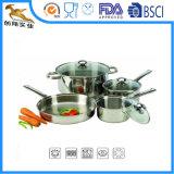 18/10 batterie de cuisine d'acier inoxydable a placé 7 PCS (CX-SS0702)