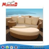 専門の屋外のホテルの柳細工の寝台兼用の長椅子の藤のChaiseのサンルームの椅子